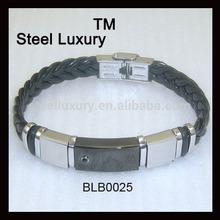 Men Leisure Bracelet Wiht One Clear Zircon