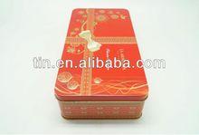 rote rechteckige süßigkeiten Metalldose Geschenkbox