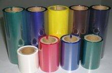 barcode ribbon wax blue wax thermal transfer ribbon color box for label writer