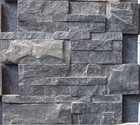 Z shape rough face natural black exterior slate wall panels