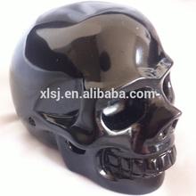 Natural semi- preciosas piedras preciosas negro obsidiana del cráneo con precio al por menor
