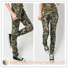 HFR-JN09 2014 100% cotton Ladies'/Women's sexy camouflage women's pants trousers retail / wholesale