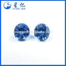 round shape cubic zirconia gemstone 8 hearts & 8 arrows