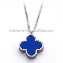 2014 new blue plastic charms popular brand stainless steel imitation jewelry imitation celebrity jewelry unique jewelry (LN3256)