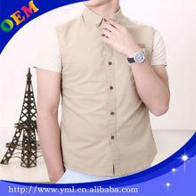 2014 new design slim fit men fashion shirts embroidery design