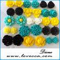 grossiste chine fleurs en résine pour les bijoux de mode populaire