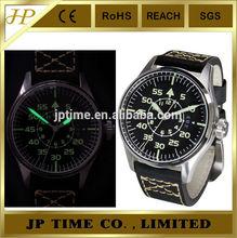 Geckota Vintage Style German Flieger Big fashion Pilot Watch,military pilot aviator army style watch