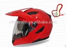 Red colour double visor modular helmet flip up helmet RY-900