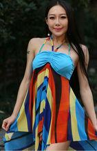 2014 New Three-piece Bikini Swimsuit Sexy Bikini Gather Mantillas Fruit Green/Yellow/Blue LY14051002