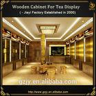 wood tea bag display stand for tea store interior design