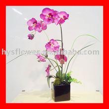 Em vasos decorativos flor da orquídea - arranjo artificial