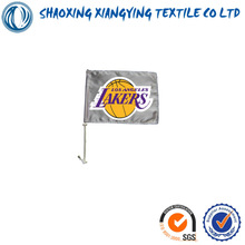 custom car flags with the lakers basketball club in USA