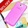 single color Ultra slim plastic cover for Samsung galaxy N7100