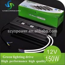 12 v adapter high voltage transformer 150w IP67 switch mode power supply