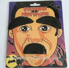 fake mustache/ party fake beard&eyebrow for Halloween/ funny fake beard mustache