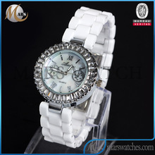 2014 new fashion day of the week quartz wrist watch with stainless steel case