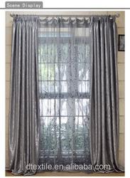 Luxurious finished window curtain elegant 2 layer sun shade curtain 56series