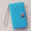 Fashion Diamond Wallet Cellphone Cases for Samsung Galaxy S5 Leather Covers