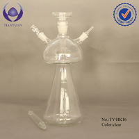 Best sale borosilicate hand blown glass shisha hookah