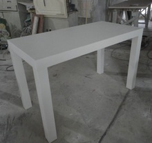 Waterproof hand-made modified acrylic Dining table,artificial stone coffee dining table