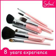 Sofeel new design fashion make up brush 8pcs nylon hair cosmetic brush set