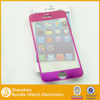 2014 new most popular color screen stickers for iphone 5, tempered screen protectors front side