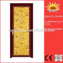 Free walk-in double sliding door shower screen with luxury handles SC-AAD025