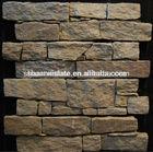 Yellow rough edged slate tile