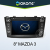 "2010 hot selling 8"" HD Touch screen 2 din car audio player for mazda 3"
