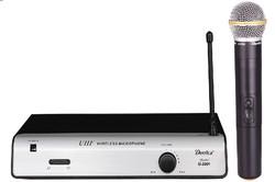 Plastic wireless microphone system,single channel,OEM,cheap wireless microphone