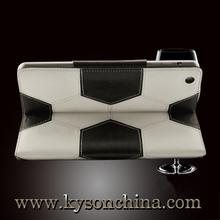 For ipad mini original smart case,OEM design decorate leather case for mini ipad