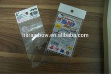 opp header develop bag with card insert
