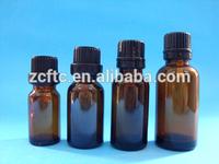 Glass amber bottle with plastic screw cap,chemical liquid glass dropper bottle