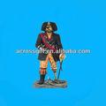 Feito à mão real tamanho poly resina pirata estatueta