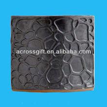 "14"" decorative round black ceramic pottery vases"