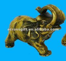 Colour Poly Resin Elephant