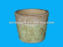 handmade antique ceramic run pots planter