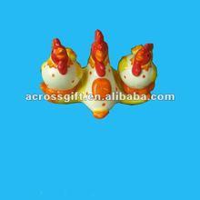 salt and pepper shaker ceramic easter chicken