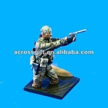 Plating military resin model kit figures