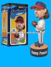 Custom kenny power resin bobble head figurine