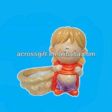 cute child ceramic decoration