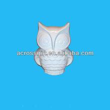 cartoon big head standing owl bank white ceramics