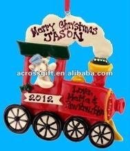 Personalized Resin Choo Choo Train Christmas ornaments