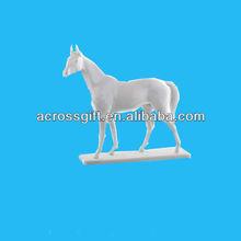 decorative white hores porcelain figurines ceramics