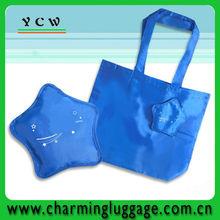 blue star shaped bag folding shopping bag