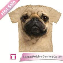 Custom 3d t-shirt pug 3d t-shirt animal 3d t-shirt