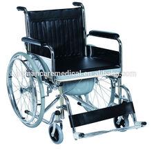 Hot sale lightweight folding commode wheelchair