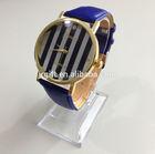 geneva quartz leather Dark Blue strap watch odm play JR0188