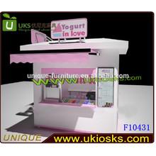Pink love ice cream kiosk with wheels / ice cream kiosk for sale / 3D ice cream kiosk design