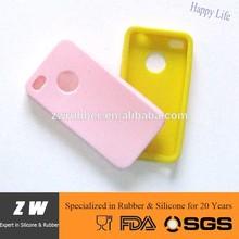 ZW Single Color Silicone Mobile Phone Case silicon cover 4S MJ-392